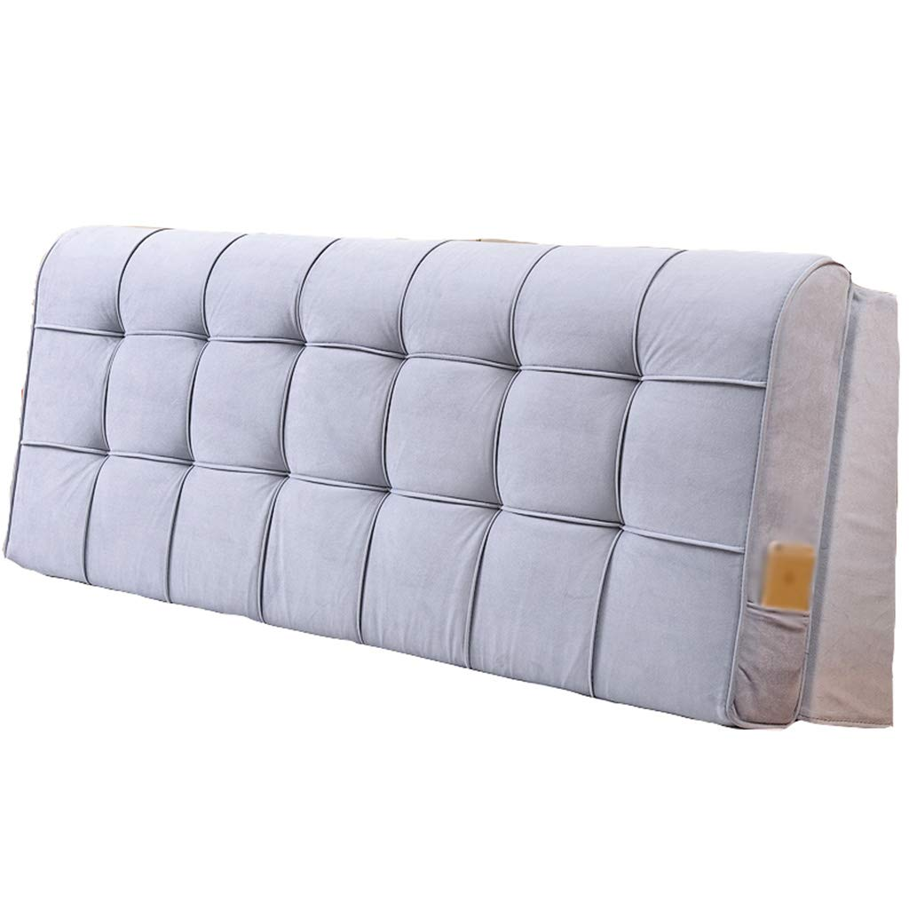 AIDELAI Backrest- Bedside Soft Bag Large Cushions Backrest Custom Double Bed Cushions Fabric Pillow Can Be Washed and Washed (Color : A2, Size : 12058cm)