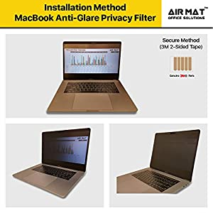 """15 Inch MacBook Pro Privacy Screen Filter - Touch Bar (Model A1707) Apple Notebook, best Anti Glare Protector Film for data confidentiality - compare to 3M (MacPro 15"""")"""