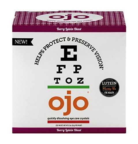 OJO Fortified Nectar Quickly Dissolving Eye Care Crystals, Berry Lutein Blast Flavor, 10 (Berry Nectar)