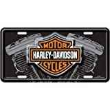 harley davidson v twin engine license plate