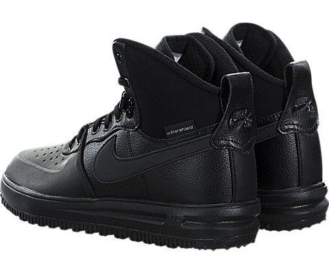 Nike Lunar Force 1 SneakerBoots (Kids) Black/Metallic Silver by Nike (Image #3)