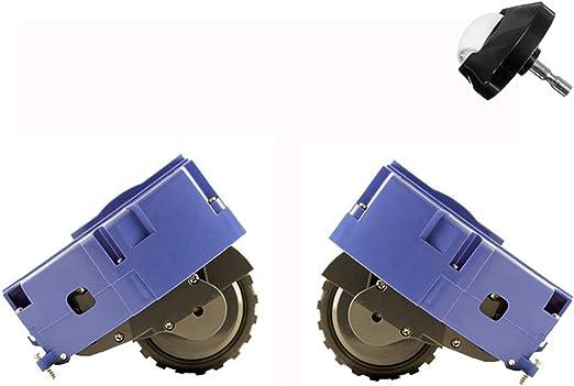 LongRong 1 par de módulos de rueda izquierda y derecha para iRobot Roomba 500 600 700 800 900 Serie - Robot (con 1 rueda universal gratuita): Amazon.es: Hogar