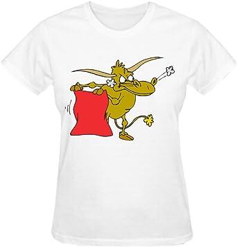 Bella Cartoon Vaca Corrida de toros de la mujer cuello redondo T camisas: Amazon.es: Ropa y accesorios