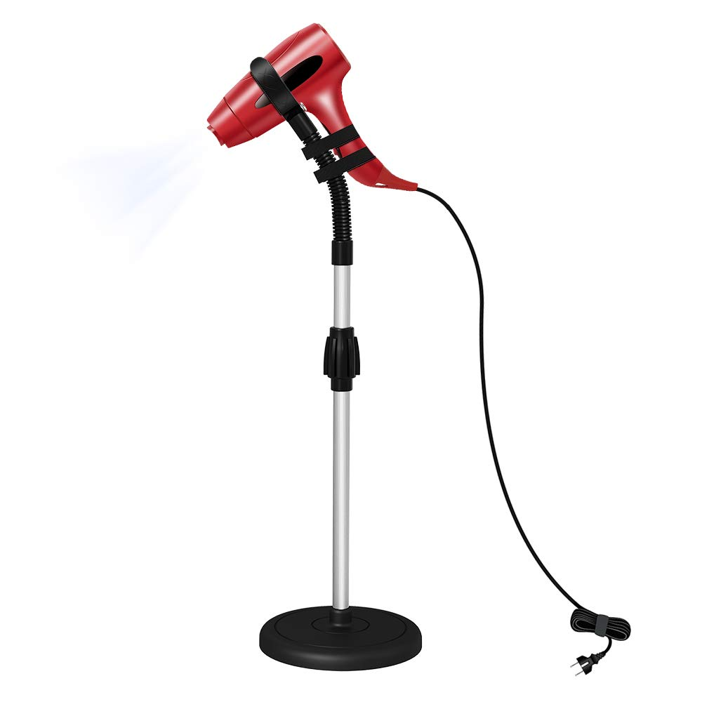 LuckIn Blow Dryer Stand, Hair Dryer Stand Hands Free, Hair Dryer Holder 360 Degrees Rotation, Adjustable Height Hair Dryer Holder, Blow Dryer Holder on Countertop Floor