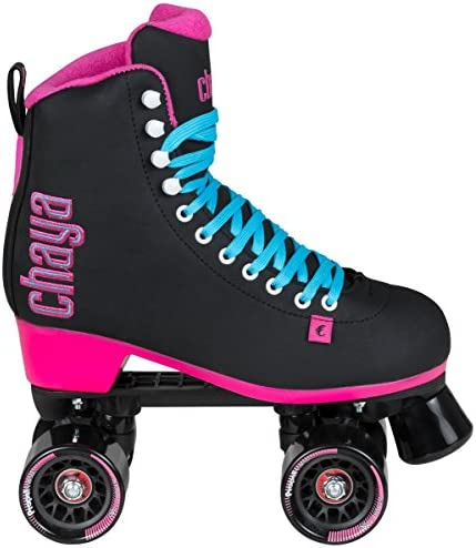 Chaya Melrose Black Pink Quad Indoor Outdoor Roller Skates