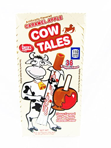 Goetze's Caramel Cow Tales, Apple, 36 (Halloween Caramel Apples Gifts)