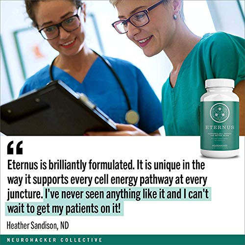 51rAT8k6f5L - Eternus - Cell Energy for Better Aging | Comprehensive Cell Food Supplement | Niagen NAD+ Booster (160 Capsules)