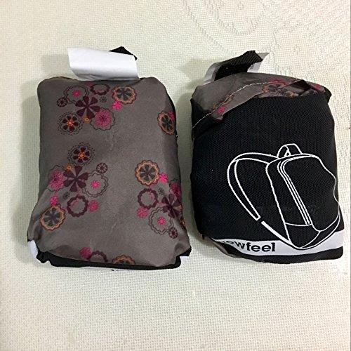 LWJgsa Outdoor Folding Bolsa De Hombro Hombres Y Mujeres De Piel Deportes Mochila Bolsa Viajes Patrón Geométrico Grey flores