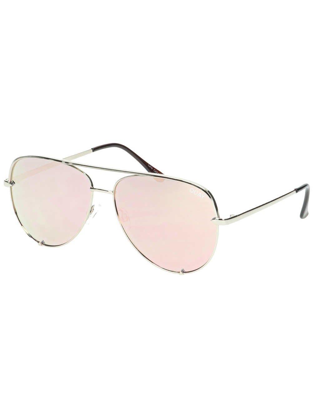 Quay Australia HIGH KEY Men's and Women's Sunglasses Classic Oversized Aviator - Gold by Quay Australia