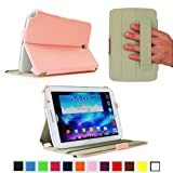 Fintie ClickBook Series Folio Hardback Case with Built-in Stand Auto Wake/Sleep for Samsung Galaxy Note 8.0 inch Tablet GT-N5100 / N5110 - Pink