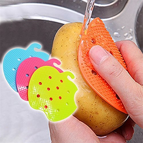 Multi-functional Fruit Vegetable Brush Kitchen Tools Easy Cleaning Brush For Potato Kitchen Home Gadgets cooking tool by JetkyShop