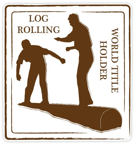 Log Rolling World Title Holder sport sticker decal 4