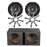 q power subwoofer box package - Car Sub Package: 2 x Kicker 43CWR104 CompR 10