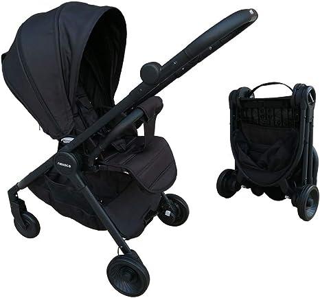 Opinión sobre Cochecito de bebé Silla de viaje portátil asiento reversible Certificado CE(negro)