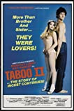 Taboo II POSTER Movie (11 x 17 Inches - 28cm x 44cm) (1982)