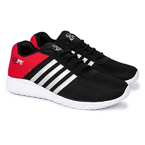 9b5bb2a8a0 Lancer Men s Black Running Shoes-8UK India (42 EU) (E-INDUS-22BLK-RED 8)   Buy Online at Low Prices in India - Amazon.in