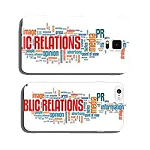 Public relations word cloud cell phone cover case Samsung S5