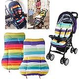 Vicky Store 1 pc Cute Waterproof Cushion Padding Liner Seat Pad Rainbow For Baby Stroller Pram Random colour