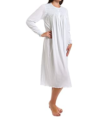 1997ae8c90e5 P-Jamas Isabel Smocked Long Sleeve Nightgown (Isabel) at Amazon Women s  Clothing store