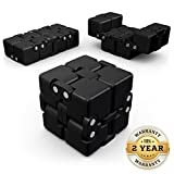 OCTOCUBE Infinity Fidget Cube - Infinite 3D Puzzle for Stress Relief, Pressure Reduction, Killing Time, ADD, ADHD, OCD, Autism, Anxiety, Quit Smoking, Nail Biting | Adults & Children | Black