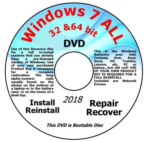 Amazon com: Recovery disc compatible w/ All Versions of