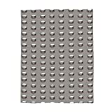 DOME-SPACE Rivet Protruding Metal Flannel Throw Blanket 59x79inch Lightweight Plush Microfiber Fleece Comfy Gift Blankets for Chair Bed Couch