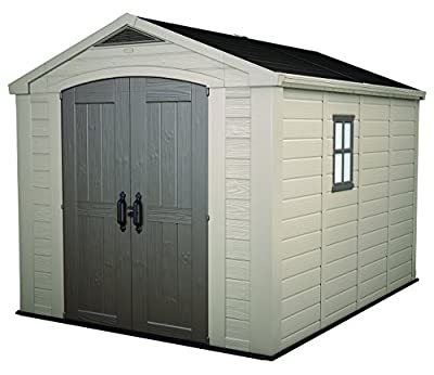 Keter Factor Large 4 x 6 ft. Resin Outdoor Backyard Garden Storage Shed from BenefitUSA