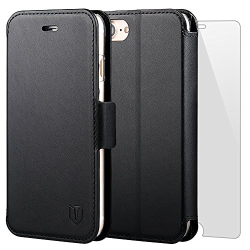 TANNC Flip Leather Wallet Case with Card Slot and Screen Protector for...