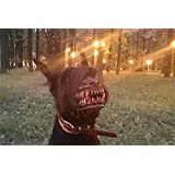 Zombie Werewolf Dog muzzle Scary muzzle with teeth Halloween muzzle for dog Anti-biting muzzle and Chewing