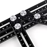 ANY- ANGLE Multi-Angle Measuring Ruler, Axiton Universal FULL-METAL Template Ruler Tool Easy Angle Ruler Perfect For Handymen, Builders, Craftsmen, Carpenters, Roofers, Tilers, DIY-ers & GR