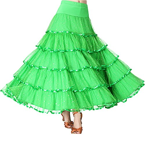 Green Femme Taille Jupe Trapze Unique Lolanta vZFRxw