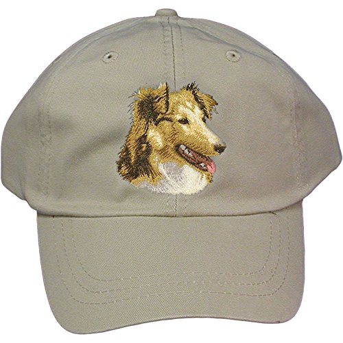 (Cherrybrook Dog Breed Embroidered Adams Cotton Twill Caps - Stone - Shetland Sheepdog)