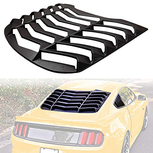 ABS Rear Window Louvers Scoop Louvers GT Lambo Style in Matte Black for Ford Mustang 2015 2016 2017 - Mustang Louver Ford Window Rear