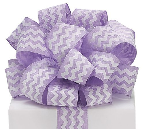 (Burton & Burton Lavender Chevron Woven Ribbon 1.5