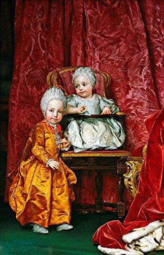 Anton Raphael Mengs Archduke Ferdinand and Archduchess Maria Anna of Austria Museo Nacional del Prado 30 x 19 Fine Art Giclee Canvas Print Reproduction (Unframed)