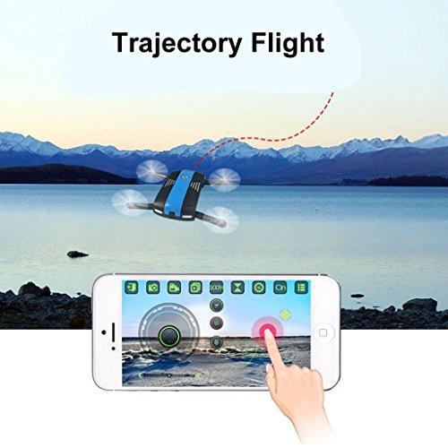 Dreamyth 2.4G 6-Axis Altitude Hold HD Camera WIFI FPV RC Quadcopter Drone Selfie Foldable (Black) by Dreamyth