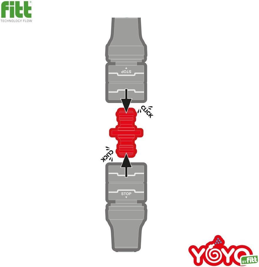 YOYO /Útil para alargar las mangueras y alcanzar mayores distancias Conector macho-macho para prolongar dos mangueras de jard/ín Dise/ñado y producido por FITT.