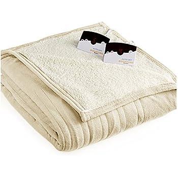 Biddeford 2064-9052140-702 MicroPlush Sherpa Electric Heated Blanket King Cream