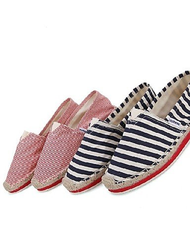 Casual Cn38 Uk5 Deporte Oficina Zapatos Trabajo Mocasines De Cn39 Mujer Rojo Uk6 us8 Eu39 Azul 5 Red Blue 5 Tela Eu38 Plataforma Creepers us7 Zq Y gzq4wq