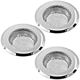 SENHAI Stainless Steel Kitchen Sink Strainers, 3 Pack Sink Hole Cover Basket of