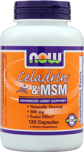 NOW Foods Celadrin® & MSM -- 500 mg - 120 Capsules - 3PC