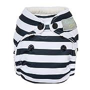 GroVia Newborn All in One Snap Reusable Cloth Diaper (AIO) (Onyx Stripe)