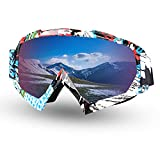 Fodsports Motorcycle Motocross Goggles Anti UV Safety Goggles Dirt Bike Goggles Dustproof Motorcycle Glasses for Cycling Riding Climbing Skiing (A Style)