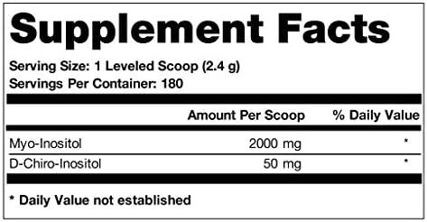 Ovasitol Inositol Powder 90 Day Supply | Myo Inositol 2000mg | D-Chiro Inositol 50mg | Canister