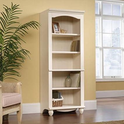 5 Shelf Wood Bookcase, Tall Library, Tree Adjustable Shelves, Bookshelf,  Cabinet,