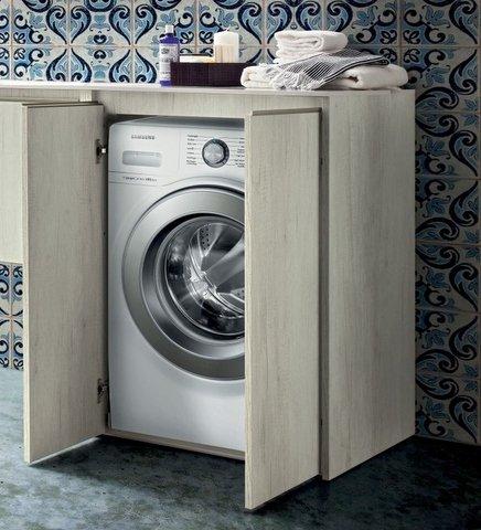 mobile bagno copri lavatrice in 30 colori porta lavatrice: amazon ... - Arredo Bagno Con Portalavatrice