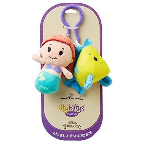 Hallmark itty bittys Clippys Disney The Little Mermaid Ariel and Flounder Stuffed Animals ()