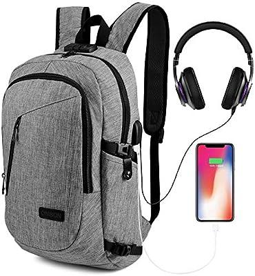Anti-Theft Unisexe Voyage Ordinateur portable professionnel étanche Sac à dos port usb sac d/'école