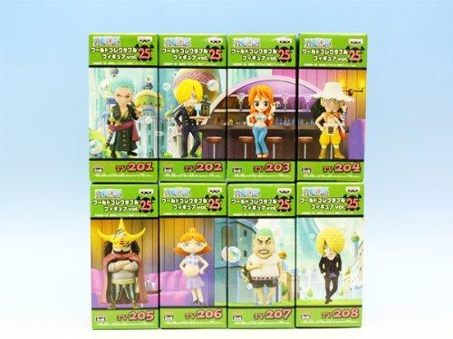 Piece World Collectable Figures vol.25 Banpresto (all eight Furukonpu set + Poster bonus)