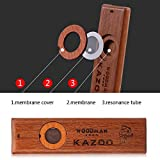 Wooden Kazoos Guitar Ukulele Vintage Guitar Partner, Easy To Learn and Have Fun for Kids and People Hum Song